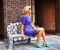 The Classy Cubicle: Amethyst and Aqua. The Classy Cubicle: Stay Calm and Occasionally Pop Your Collar. The fashion blog for young professional women who need office style inspiration and work wear ideas for the corporate world and beyond. The dos and don'ts for appropriately suiting up as a female in corporate America. 20s, 30s, 40s, 50s, attire, outfits, j. crew, turquoise, suede pumps, ann taylor, karen walker sunglasses.