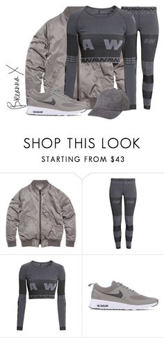 """""""Untitled #2963"""" by breannamules ❤ liked on Polyvore featuring H&M, NIKE, women's clothing, women's fashion, women, female, woman, misses and juniors"""