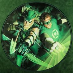 Green Arrow & Green Lantern Art by Alex Ross - And this is what Oliver actually looks like, folks.  Not a broody Hawkeye knockoff.  Thanks CW.