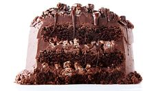Chocolate Rice Krispie Crunch Cake