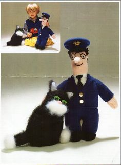 Postman Pat Doll Jess The Cat Doll Toy Knitting pattern PDF Download knitted…