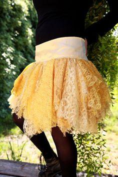 Women's Medium Summer Sun Yellow Lace Tutu Skirt by Ragavon, $45.00
