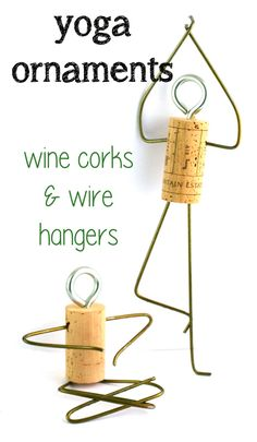 Yoga cork ornaments