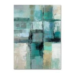 'Island Hues Crop I' by Silvia Vassileva Painting Print on Wrapped Canvas