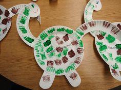 sponge painting dinosaur--we used to do this in Pre-K every year :) Dinosaur Art Projects, Dinosaur Crafts Kids, Dino Craft, Dinosaur Theme Preschool, Preschool Art Projects, Dinosaur Activities, Daycare Crafts, Preschool Crafts, Toddler Art