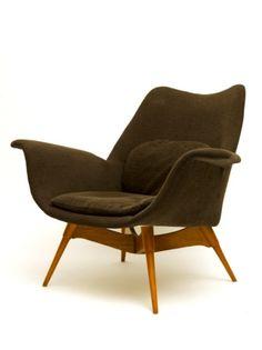 Grant Featherston; Eleanor E1 Elastic Suspension Armchair, 1950s.