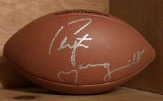 Wilson NFL Official Size Football Autographed by Manning Signed Mancave   eBay