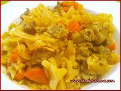 Guiso de ternera ecologica con col y verduras. Lambruchona.com