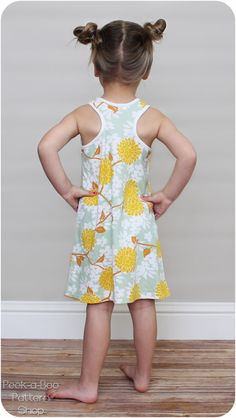 The Rio Racerback Tank and Dress is the perfect go-to outfit for summer days! The Rio features classic racerback styling to keep your little one cool and comfy and a sweet gather at the front neckline. Easy Girls Dress, Toddler Girl Dresses, Little Girl Dresses, Girls Dresses, Lucy Dresses, Girls Overall Shorts, Sundress Pattern, Sewing Kids Clothes, Girls Sleepwear