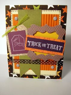 More Halloween card ideas from the Bazzill Card Swap.