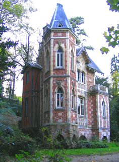 Country house of the writer Alexandre Dumas, père, built in 1846 in the English garden-style by the architect Hippolyte Durand in Port-Marly, Yvelines, France.