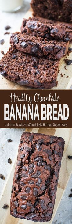 This rich yet healthy chocolate banana bread is a delicious combination of banana and chocolate. Moreover, it is free from refined sugar. | #bananabread #chocolate #bread #healthyrecipes via @watchwhatueat