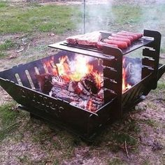 Pin About Fire Pit Bbq Fire Pit Grill and Fire Cooking On Fire Pit Grill, Diy Fire Pit, Bbq Grill, Metal Projects, Welding Projects, Outdoor Projects, Fire Cooking, Outdoor Cooking, Cuisinières Vintage