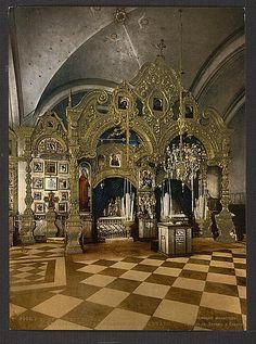 [The Convent Solovetskii, Kola, the Shrine, Kola Peninsula, Russia], ca 1890-1900 Kola Peninsula, White Sea, Place Of Worship, Barcelona Cathedral, Lion Sculpture, Statue, History, Architecture, City