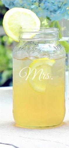 cute 'mrs' mason jar http://rstyle.me/n/kbahdr9te