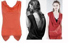 top with cut on the back Robe di Kappa for summer 2014 ----- top scollato dietro per un look casual e romantico in estate 2014