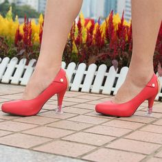 Avoid Some Embarrassment It is very embarrassed to have a slip when you wear high heel shoes. You don't need to worry anymore if you have Stiletto Heel Covers. See here: http://www.hoersun.cc/