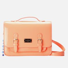 The Jody is a block patent cross body satchel ideal for the transitional season and can be worn as an accentuating accessory for either work or play. Cross Body Satchel, Paul's Boutique, Spring Style, Travel Bags, Spring Fashion, Coral, Girly, Handbags, Accessories