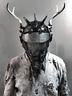 Post-Urban Shaman Mask by swanboy on DeviantArt / wasteland wear / dark fashion / dystopia / post apocalyptic
