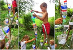 Wasserbahn aus PET-Flaschen