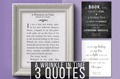 Get 30% off all 'Wrinkle' art prints from Pixel Berry Pie Designs!! Celebrate the DVD+BluRay release with these fabulous quotes on your wall! https://etsy.me/2Jbfy3i #etsy #pixelberrypiedesigns #etsyfinds #etsygifts #etsysale #awrinkleintime #quotes