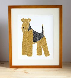 Add and Airedale to your art wall.