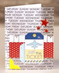 "Bella Blvd Studio   ""Just The Ticket"" card, by Jennie McGarvey."