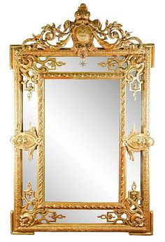 Buy online, view images and see past prices for Louis XVI Style Giltwood Louis Xvi, Metal Mirror, Wall Mirror, Floor Mirror, Mirror Photo Frames, Vintage Mirrors, Mirror Painting, Beautiful Mirrors, Inspiration Art
