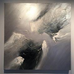 Große abstrakte Gemälde von Dan Bunea, 95x95cm oder 39x39in, Acryl auf Leinwand, zu verkaufen