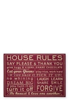 Buy House Rules Red Rug from the Next UK online shop
