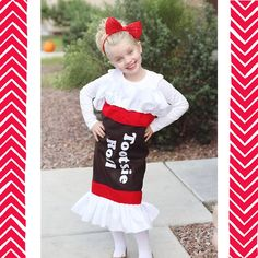 Tootsie Roll ~ If my friend were to ever need a costume, this is probably the one she'd wear.  She is seriously the Tootsie Roll Queen!