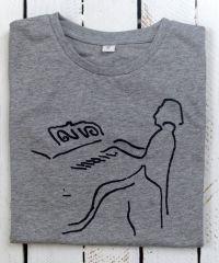 t-shirt Karykatury historyczne - Szopen czarny