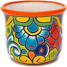 Painted Flower Pots, Ceramic Flower Pots, Painted Pots, Hand Painted Pottery, Pottery Painting, Succulent Pots, Plant Pots, Pottery Houses, Flower Pot Design