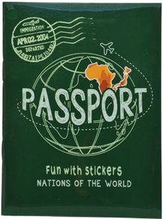 Passport booklet from Dollar Tree. Get more travel-inspired lesson plans on our blog post including fake boarding passes.