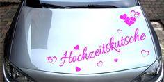Hochzeitsdeko - Hochzeitskutsche - Autotattoo Set - ein Designerstück von CatrinKerschl bei DaWanda