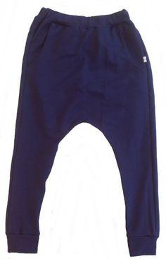 Baggy bukser i mørkeblå
