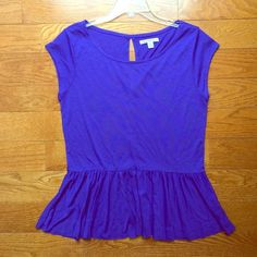 Royal blue shirt peplum style from American Eagle Comfortable, stylish top from American Eagle. Only worn once American Eagle Outfitters Tops Tees - Short Sleeve