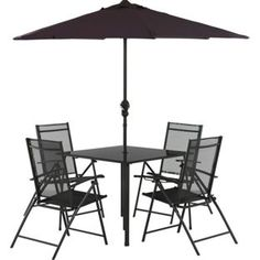 Buy Milan 4 Seater Patio Set at Argos.co.uk, visit Argos.co.uk to shop online for Garden table and chair sets