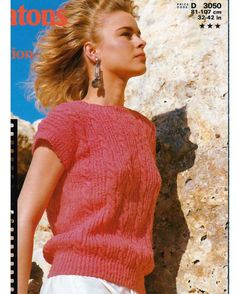 Vintage pdf Knitting Pattern  Ladies / Womens by NostalgicStyles