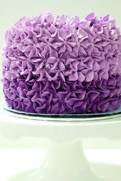 pretty ombre purple cake  by chubbybunnycupcakes, via Flickr