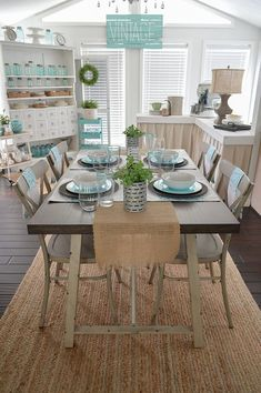 44 best farmhouse dining rooms images dining rooms kitchen dining rh pinterest com