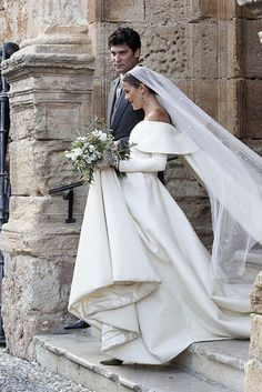 Lady Charlotte Wellesley looked absolutely radiant as she wed Colombian financier Alejandro Santo Domingo in a lavish ceremony in Spain on Saturday.