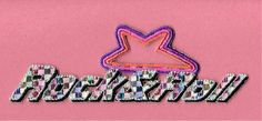 """Rock & Roll"" - Music - 50's Diner - Multi Colored Text Iron On Applique Patch #Unbranded"