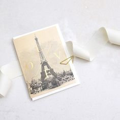 Paris Love #lonetreehq #madeinengland #stationery #papergoods #stationeryaddict #print #pattern #goldfoil #greetingcards