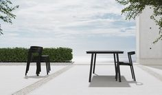 New Australian brand VUUE has produced a collection of furniture designed to be used flexibly within both indoor and outdoor spaces Outdoor Areas, Outdoor Tables, Indoor Outdoor, Melbourne, Modern Furniture, Furniture Design, Parsons School Of Design, Stacking Chairs, Store Fixtures