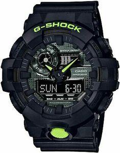 Casio G-Shock GA700 Digi Camo Front Button Resin Black/Lime Watch GA700DC-1A | eBay Casio G-shock, Casio Watch, New G Shock, G Shock Men, Hyogo, Patek Philippe, Tag Heuer, Overwatch, Devon