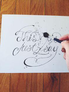 Hand lettering tutorial @Amanda Snelson Kirkwood  @Brittney Anderson Jeanne Maynard