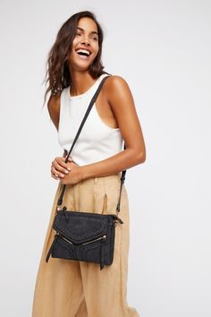 Violet Ray Black Leanna Vegan Braided Crossbody at Free People Clothing Boutique