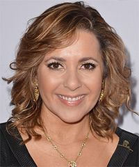 Ana Maria Canseco Hairstyle: Casual Medium Wavy Hairstyle