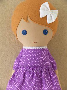 Custom Listing for Brittany Fabric Doll Rag Doll por rovingovine